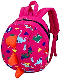 Toddler Kids Backpack Rucksack for Boys/Girl, Dinosaur Rucksack Toddler, Cartoon Safety Anti-Lost Strap Rucksack with Reins Kids Bag 27 * 19 * 11cm / 10.62 * 7.28 * 4.33inch