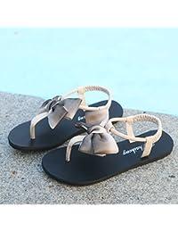 WHLShoes Sandalias Y Chanclas Para Mujer La Mujer Sandalias Casual Verano Bow Toe Clip De Fondo Plano Exterior...