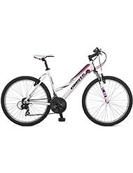 "Orbita SPRINTLINE 26"" - Bicicleta BTT de montaña para mujer, 21 velocidades, cuadro 17'' aluminio, frenos V-Brake, blanco, (165cm - 175cm)"