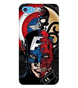 Vizagbeats captain america hero Back Case Cover for Apple iPhone 4::Apple iPhone 4S