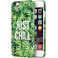 Just Chill Weed Mary Jane Apple iPhone 6 / iPhone 6S SnapOn Hard Plastic Phone Protective Carcasa Cubierta Case Cover