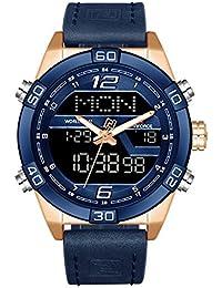 Naviforce Analog-Digital Blue Dial Men's Watch-NF9128