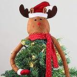 PHOGARY Adorno de árbol de Navidad Elk Hugger para Decoraciones de árboles de Navidad, Navidad/Vacaciones/Suministros de Adornos de decoración para Fiestas de Invierno