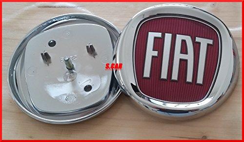 Fregio Stemma Logo FIAT Rosso 500 Punto Multipla Panda Croma Anteriore 95 mm