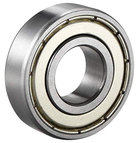 Cuscinetti a sfera 6205ZZ/6205z, 25x 52x 15mm, qualità industriale DIN625-1con sfere di precisione G10/diametro interno 25mm.