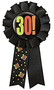 Birthday Cheer 30th Birthday Award Ribbon
