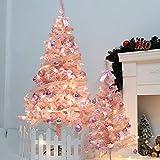 Weihnachtsbaum Weihnachtsdekor LED Künstlicher Weihnachtsbaum Pink Romance PVC Künstlich Kiefer Weihnachtsbaum Party Festival Decor für Home, Büro, Einkaufszentrum, Café (60CM/90CM)