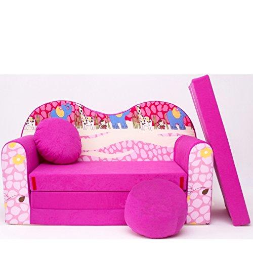 Barabike H16-a Bébés pour Enfants Mini Canapé bébé Canapé lit Pouf Lot de 3 en 1 d'oreillers en Mousse