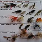 Fishing Flies 'KEITH' favourite pack 20 Trout flies UK Dries Wets Nymphs PACK#16