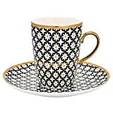 GreenGate- Espresso Set_Mug/Saucer- Lara Gold