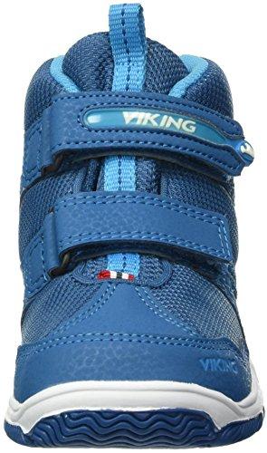 Viking Unisex-Kinder Woodpecker Mid High-Top Blau (Petrol/Blue 5535)