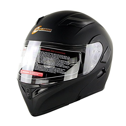 HECHEN Motorrad Racing Helm, Doppel Spiegel Helm, Sicherheit Atmungs Helm,B,61/62CM
