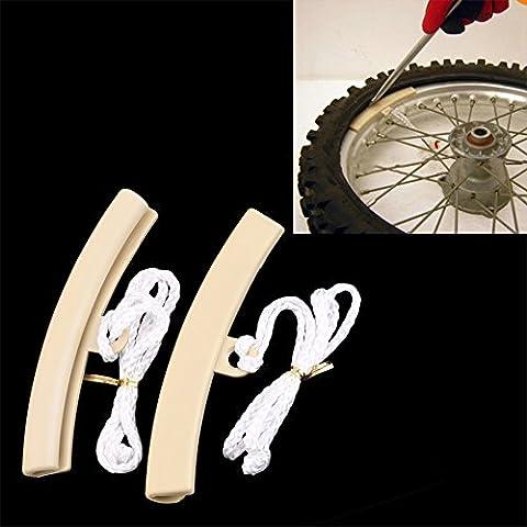 lerysox (TM)–Ruota Rim plastica schermo per auto e moto Proteggi Bordi pneumatici Riparazione Strumento Hot (High Performance Plastica)