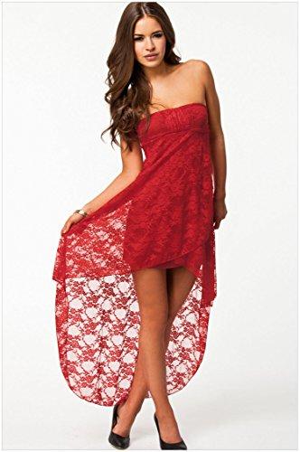 Lemandy classique et intemporel Sweetheart robe de Rouge - Rouge