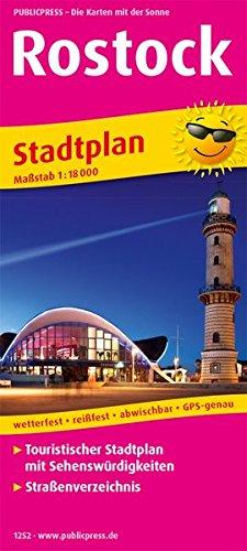 Rostock: Touristischer Stadtplan mit Sehenswürdigkeiten und Straßenverzeichnis. 1:16000 (Stadtplan / SP)
