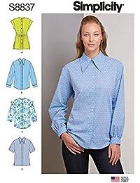 61d739c517d2 Simplicity US8837H5 - Cartamodello per camicia con colletto Miss Petite