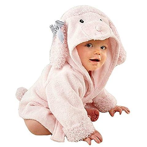 URAQT Unisex Bébé Peignoir, Sortie de Bain Pour Nouveauté, avec Motif Animal Animé, comme Serviette (mouton)