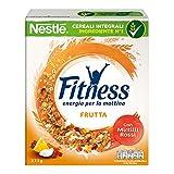FITNESS FRUTTA Cereali Fiocchi di Frumento con Frutta Uvetta Ananas Papaya Cocco e Mela, 325 g