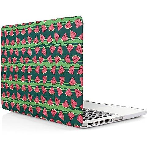 iDOO MacBook Schutzhülle / Hard Case Cover Laptop Hülle [Für MacBook Pro 13 Zoll mit Retina Display - ohne CD-Laufwerk: A1425/A1502] - matt, Wassermelonen