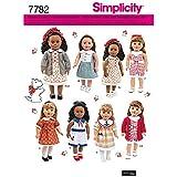 Simplicity S7782.OS Patron de Vêtements Poupées