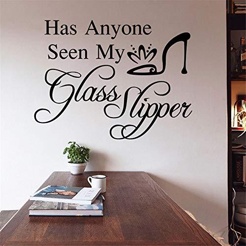 Kleine Glas-slipper (Syssyj Hat Jemand Mein Glas Slipper Plane L Aufkleber Vinyl Wasserdichte Lstickers Für Mädchen Zimmer Aufkleber Gesehen)