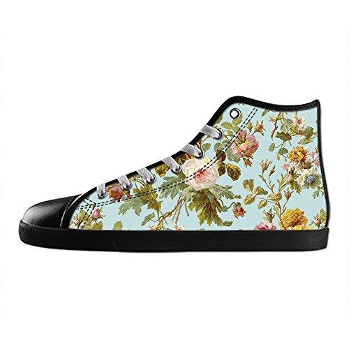Dalliy Floral Flower Men's Canvas shoes Schuhe Lace-up High-top Sneakers Segeltuchschuhe Leinwand-Schuh-Turnschuhe B