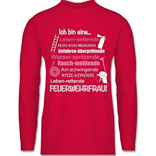 Shirtracer Feuerwehr - Ich Bin eine Feuerwehrfrau! - Herren Langarmshirt Rot
