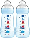 MAM 99957411 - Easy Active Baby Bottle 270 ml,Doppelpack für Jungen