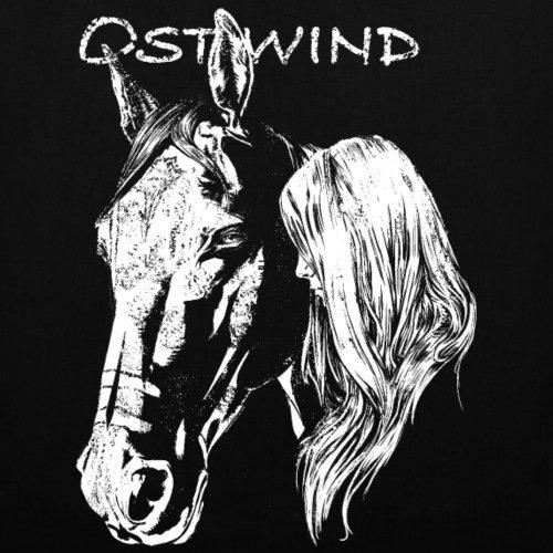 OSTWIND Aufbruch Nach Ora Pferdekopf Porträt Stoffbeutel von Spreadshirt® Schwarz