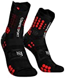 Compressport Herren Trail Sock Black/Red Kompressions Laufsocke, Schwarz(Schwarz/Rot), T4,45-48 EU