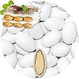 EinsSein 0,5kg Schokomandeln Tiramisu weiss matt Mandeln Hochzeit Taufmandeln Gastgeschenke Zuckermandeln Bonboniere Confetti Badem sekeri Gastgeschenk Zucker