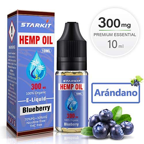 E-liquidos Aceite de Cáñamo Hemp STARKIT® Vaper Sin Nicotina 10ml 3% 300mg Vape para E Cigarrillo...