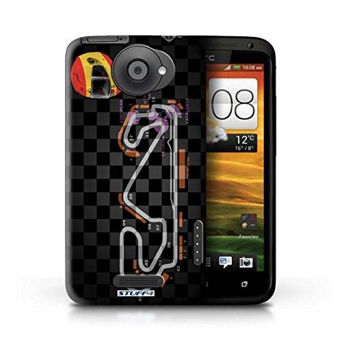 Kobalt® Imprimé Etui / Coque pour HTC One X / Singapour conception / Série 2014 F1 Piste Espagne/Catalogne