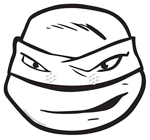 Star Cutouts–stsmc6–Maske für Erwachsene Leonardo–Schildkröte Ninja–Hat ()
