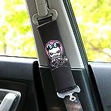 PUSHIDE 2 Stück Gute Qualität Auto Sicherheits Sicherheitsgurt Schulterpolster Schulterkissen Autositze Gurtpolster für Kinder und Erwachsene E