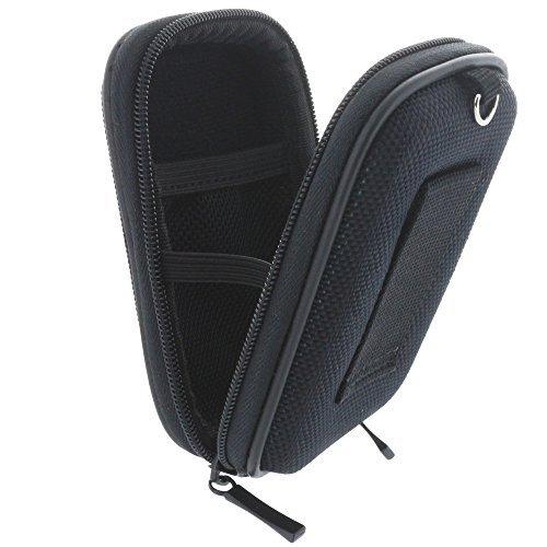 Kameratasche Hardcase für Kompaktkamera - XS Kamera Tasche für Canon Ixus 175 180 185 190 - Sony DSC W810 W830 WX220 WX350 etc - schwarz