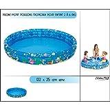 Jilong Tropical Fish Pool Ø 122 x 25 cm Kinderpool Planschbecken Schwimmbecken Kinder Schwimmbad