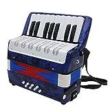 Ammoon Mini Petite réglées 8basses accordéon Educational Instrument de musique jouet pour enfants Enfants amateur débutant Cadeau de Noël