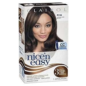 Clairol Coloration de longue durée Nice 'n Easy - Couleur 120 - Brun foncé naturel