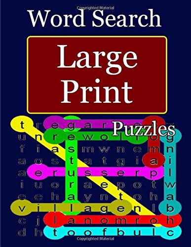 Word Search Large-Print Puzzles: Large-print brain games for adults and kids por ben dawika