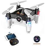 Beebeerun WiFi FPV RC Quadcopter mini drone con telecamera Dance Mode Optical Flow altitudine Hold 360° Flips e rotoli Gravity Sensor app o trasmettitore di ricambio