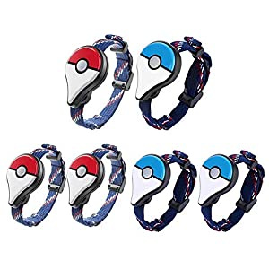 Chidjon 2pcs Bluetooth Wristband Watch Interactive Figure Toys for Pokemon Go Plus
