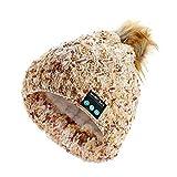 Fayeille Bonnet Bluetooth, casque stéréo Bluetooth Hi-Fi Casque musical sans fil V4.2 avec microphone intégré à haut-parleur stéréo