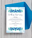 personalisierbar Blueberry Hochzeitstag Einladungen mit Umschlägen (10Stück)