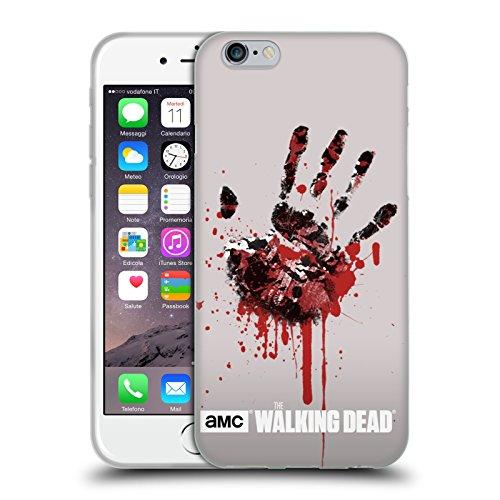Officiel AMC The Walking Dead Main Silhouettes Étui Coque en Gel molle pour Apple iPhone 6 / 6s