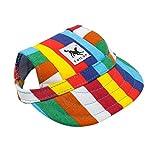 wuayi TAILUP Small Pet Casual Summer Canvas Cap Dog Baseball Visor Hat Puppy Outdoor Sunbonnet Cap (S, B) 12