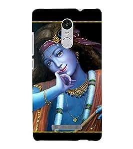 Lord Krishna 3D Hard Polycarbonate Designer Back Case Cover for Xiaomi Redmi Note 3 :: Xiaomi Redmi Note 3 Pro :: Xiaomi Redmi Note 3 MediaTek