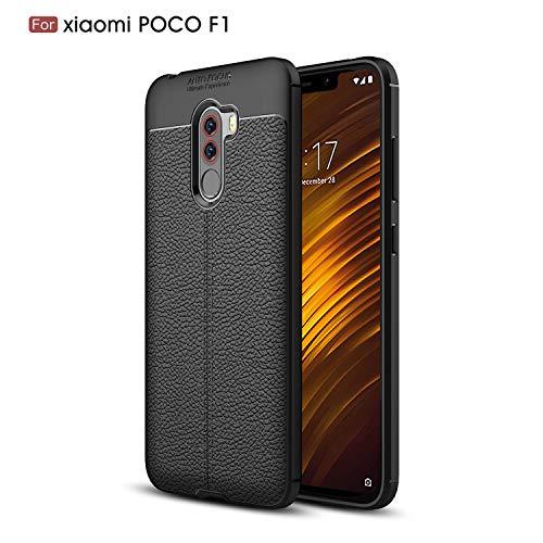 Funda Fermezza e Flessibilità Smartphone Custodia per Xiaomi Pocophone F1(Nero)