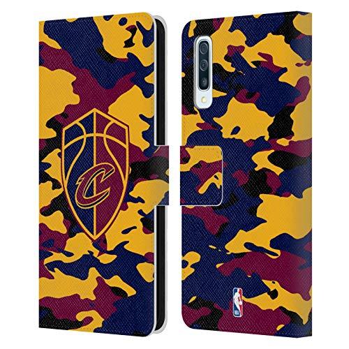 Head Case Designs Offizielle NBA Camouflage 2018/19 Cleveland Cavaliers Leder Brieftaschen Huelle kompatibel mit Samsung Galaxy A50/A30s (2019) -