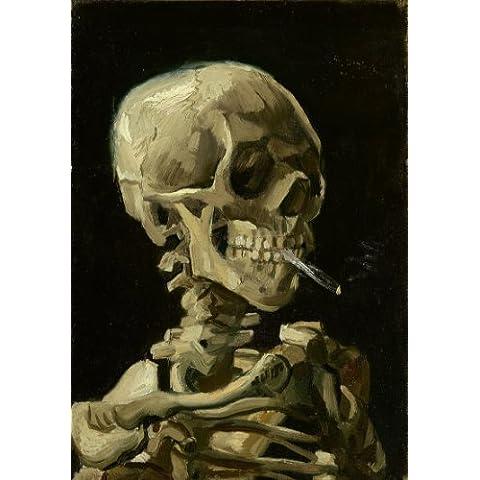 """Vincent van Gogh-c1886 testa di scheletro con le sigarette *, formato A3, 250 g/mq, riproduzione """""""